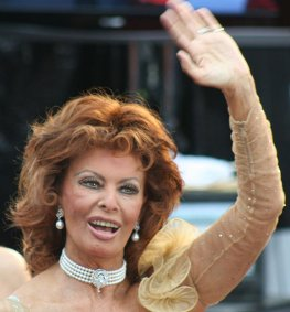 Sophia Loren bei der Oscarverleihung 2009