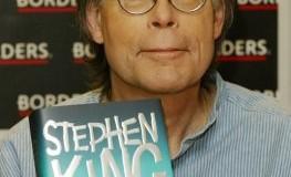 Stephen King bei einer Präsentation von seinem Buch in London