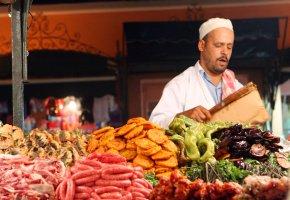Straßenhändler in Marrakech