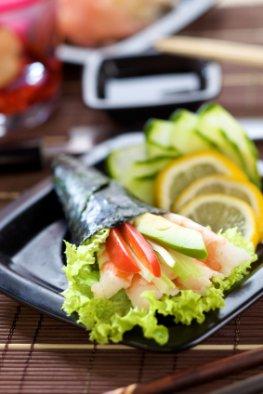 Sushi mit Surimi