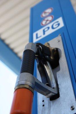 Tankstelle - Autogas Zapfsäule