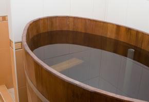 Ein typisches Tauchbecken mit kaltem Wasser