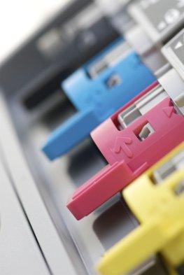 Tonerkartuschen von einem Laserdrucker