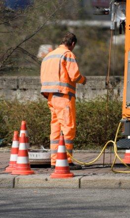 Überprüfung des Abwasserkanalsystem auf Dichtigkeit durch einen Fachbetrieb