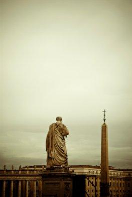 Vatikan - Statue von Petrus der Patron von Rom