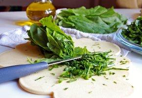 Vegan: Zubereitung von Gemüse und Kräuter