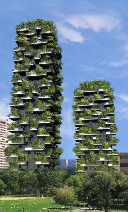 Vertikale Wälder - das Bosco Verticale in Mailand wird im Dezember 2012 fertiggestellt