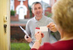 Vertrauen schaffen: Visitenkarte - der Handelsvertreter stellt sich vor