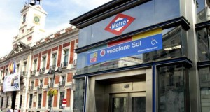 U-Bahnstation Vodafone Sol in Madrid.