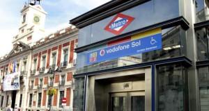 U-Bahnstation Vodafone Sol in Madrid.
