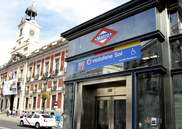 Metrostation Vodafone Sol in Madrid.