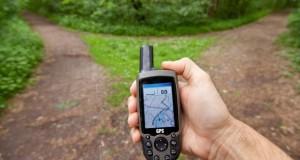 Wandern mit einem GPS Gerät.