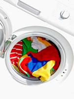 Waschmaschine mit Buntwäsche