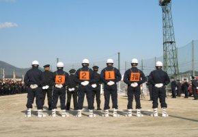 Wegwerfarbeiter - Feuerwehrleute aus Japan