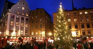 Der Weihnachtsmarkt von Stockholm.