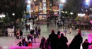 Weihnachtsstimmung im Zentrum von Athen.