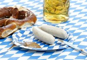 Weisswurst mit süssen Senf