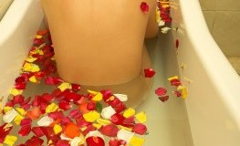 Wellness-Oase in der Badewanne