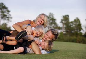 Wellness und Entspannung mit den Kindern