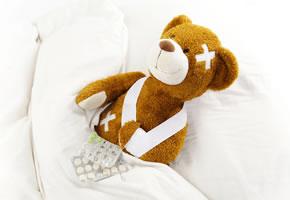 Wenn Kinder im Urlaub krank werden