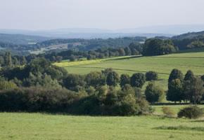 Panarama Aussicht über den Westerwald