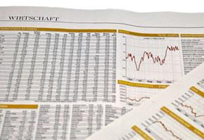 Strukturierte Investments in der Wirtschaftszeitung verfolgen