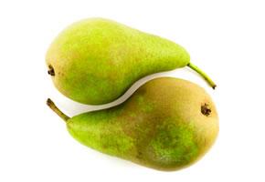 Yin und Yang mit zwei Birnen