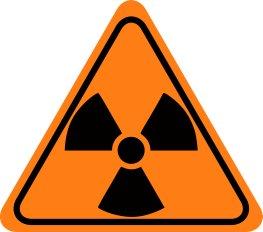 Warnschild für Radioaktivität