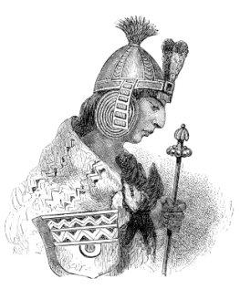 Hochkultur - Zeichnung eines Azteken-Prinzen